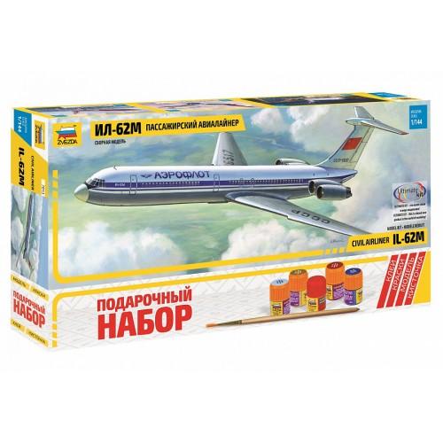 Советский пассажирский авиалайнер Ил-62М. Сборная модель