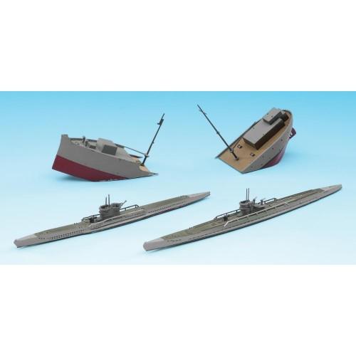 Hasegawa H49901 1:700 Подводная лодка U BOAT 7C/9C