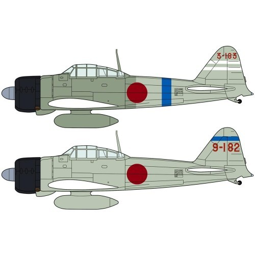 Hasegawa H02002 1:72 самолет MITSUBISHI A6M2a ZERO FIGHTER TYPE 11 COMBO