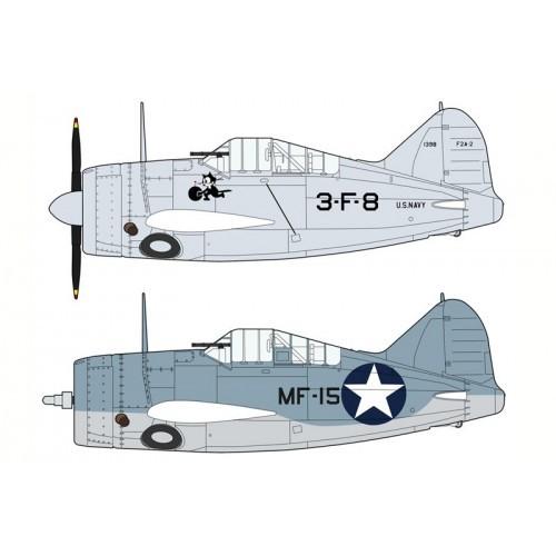 Hasegawa H01974 1:72 самолет F2A-2/3 U.S. NAVY/MARINE