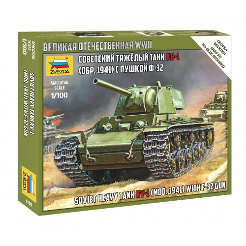 Сов.танк КВ-1 с пушкой Ф32