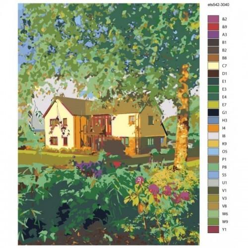 Картина по номерам, 30 x 40, ets542-3040