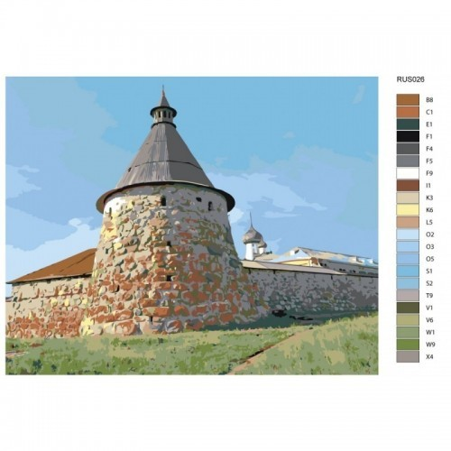 Картина по номерам, 40 x 50, RUS026