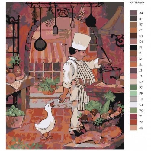 Картина по номерам, 40 x 50, ARTH-AlsuV