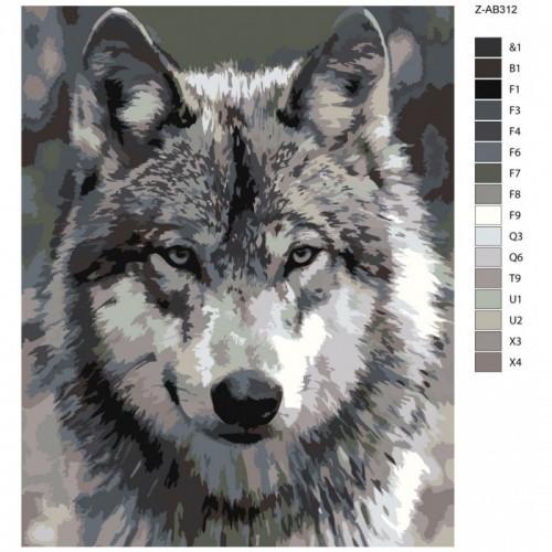 Картина по номерам, 40 x 50, Z-AB312