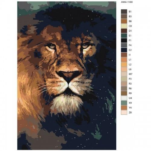 Картина по номерам, 40 x 60, ANNA-11080