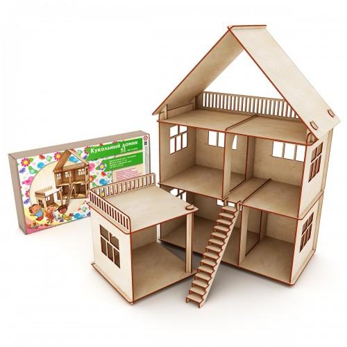 Кукольный домик с лестницей (Коробка, упаковка)