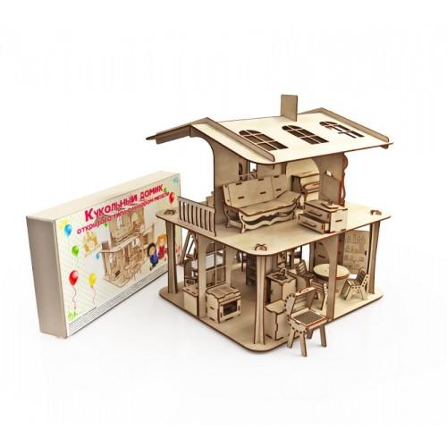 Дом открытого типа с набором мебели