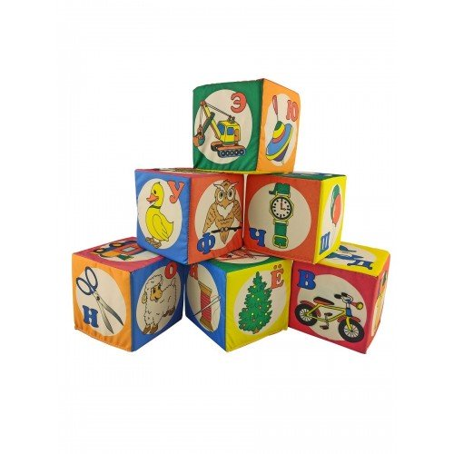"""Мягкие кубики """"Азбука"""", 10 см"""
