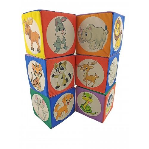 "Кубики ""Животные зоопарка"", 10 см"