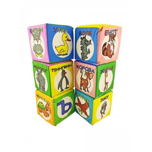 """Кубики """"Букварёнок"""", 7 см"""